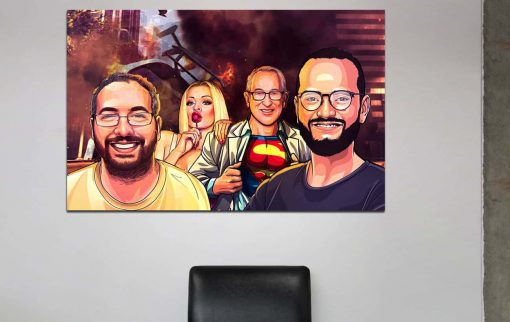 4 Portraits +Poster + Background