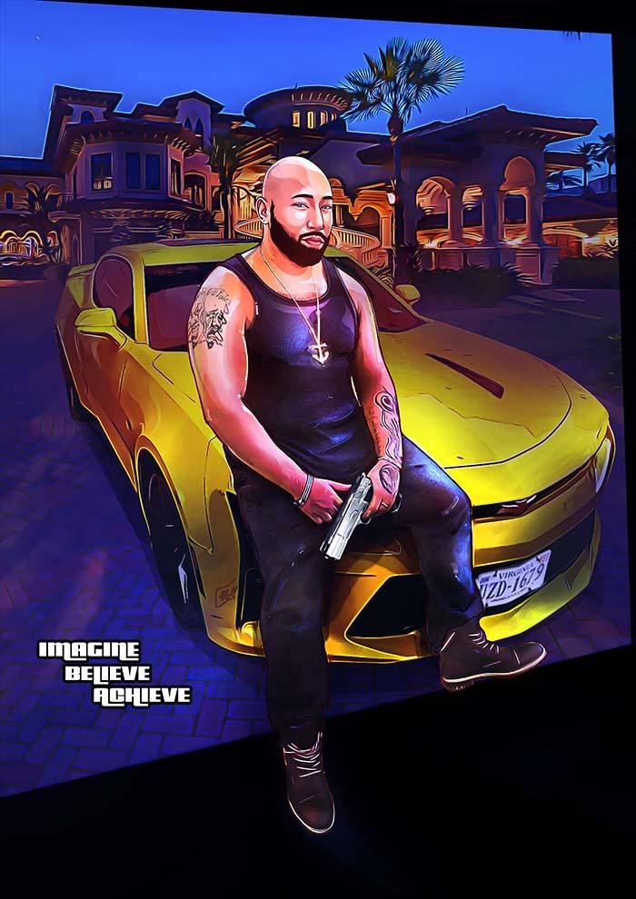 GTA custom fan art